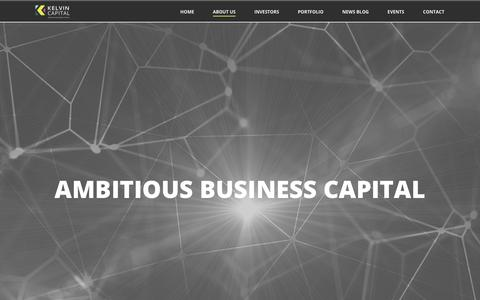 Screenshot of About Page kelvincapital.com - About Us - Kelvin Capital - captured Sept. 20, 2018