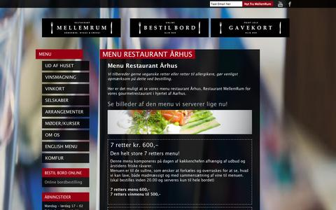 Screenshot of Menu Page restaurantmellemrum.dk - Menu Restaurant Århus - God mad i Aarhus C. - Restaurant MellemRum - captured Oct. 27, 2014