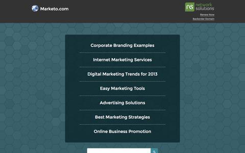 Screenshot of marketo.com - Marketo.com - captured July 25, 2017