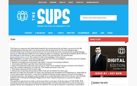 Screenshot of Team Page thesups.com - The Sups |   Team - captured Sept. 23, 2014