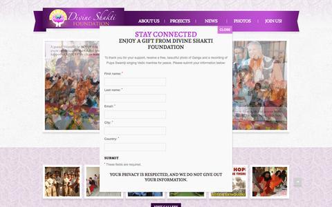 Screenshot of Home Page divineshaktifoundation.org - Divine Shakti Foundation | - captured Oct. 11, 2015