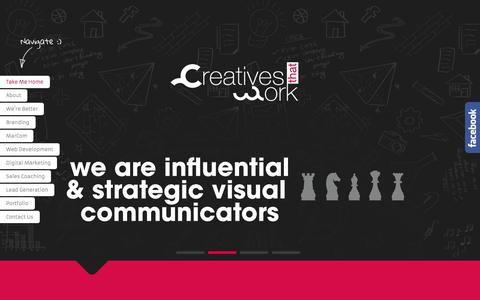 Screenshot of Home Page creativesthatwork.com - Creatives That Work - captured Sept. 7, 2015