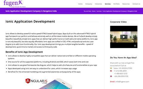 Ionic Application Development Company in Bangalore India