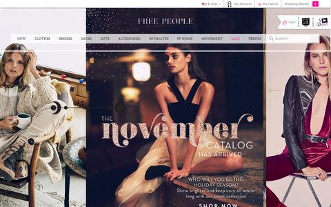 Screenshot of Home Page freepeople.com captured Nov. 3, 2015