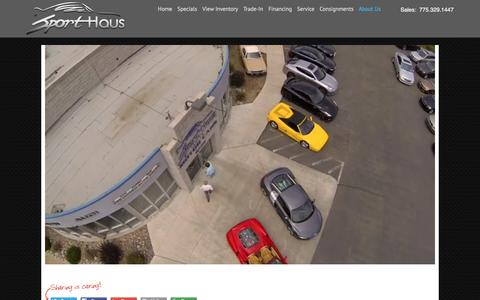 Screenshot of About Page sporthausinc.com - About Us - Sport Haus Motor Cars LLC - captured Feb. 15, 2016