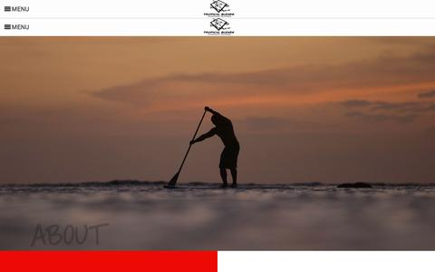 Screenshot of About Page tropicalblendsurf.com - About • Tropical Blends Surf Shop - captured March 23, 2016