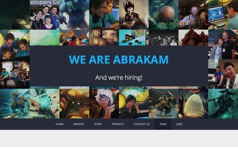 Screenshot of Team Page abrakam.com - Team  �  Abrakam - captured Dec. 23, 2015