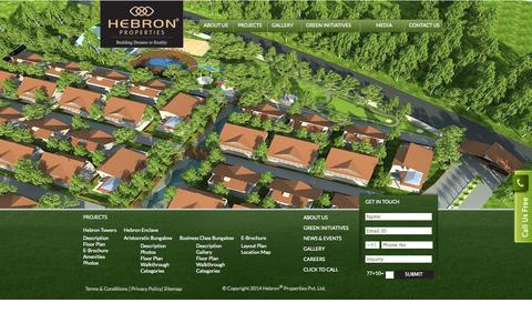 Screenshot of Site Map Page hebronproperties.com - Sitemap - captured Oct. 1, 2014
