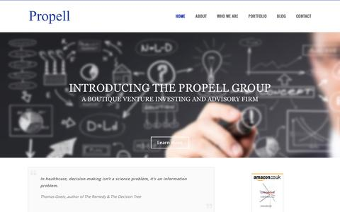 Screenshot of Home Page propellgroup.biz - The Propell Group - captured Dec. 6, 2016