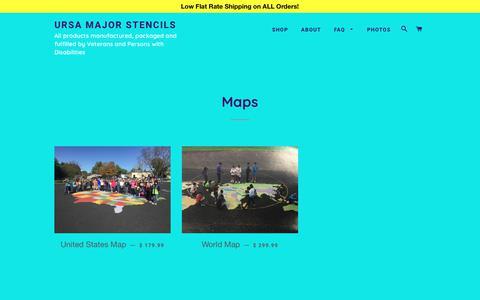 Screenshot of Maps & Directions Page ursamajorstencils.com - Maps – Ursa Major Stencils - captured Feb. 12, 2018