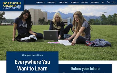 Screenshot of Locations Page nau.edu - Campus Locations | Northern Arizona University - captured April 12, 2017