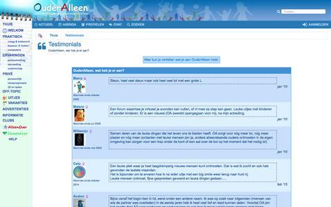 Screenshot of Testimonials Page ouderalleen.nl - Testimonials - captured Oct. 16, 2017