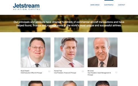 Screenshot of Team Page jetstreamavcap.com - Jetstream Aviation Capital - Our People - captured Oct. 13, 2018