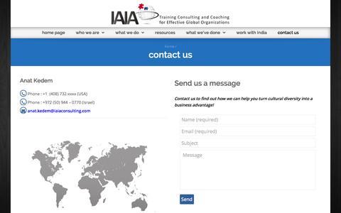 Screenshot of Contact Page Terms Page iaiaconsulting.com - contact us - IAIA - captured Oct. 6, 2014