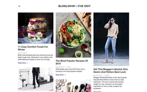 Screenshot of Blog bloglovin.com - Bloglovin'—the Edit - captured Dec. 30, 2015