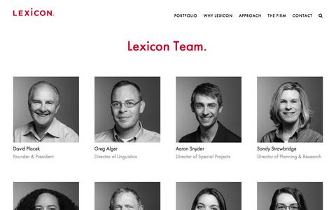 Screenshot of Team Page lexiconbranding.com - Lexicon — Lexicon Team - captured July 19, 2018