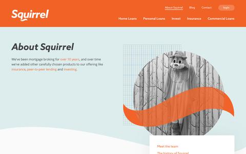 Screenshot of About Page squirrel.co.nz - About Squirrel - captured Sept. 26, 2018