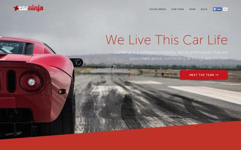 Screenshot of Home Page carninja.com - CarNinja - We Live This Car Life - captured July 11, 2014
