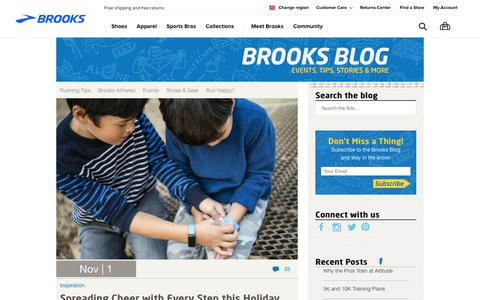 Screenshot of Blog brooksrunning.com - Brooks Blog - Run Happy! - captured Dec. 11, 2017