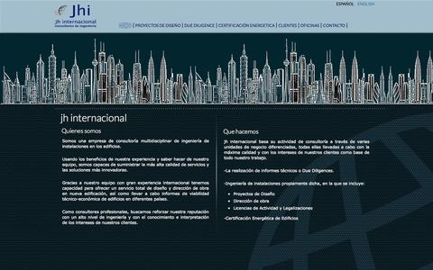 Screenshot of Home Page jh-internacional.com - JH INTERNACIONAL - captured Oct. 4, 2014