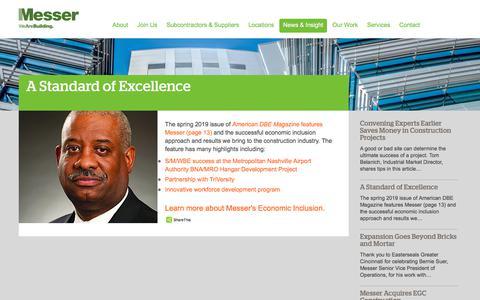 Screenshot of Press Page messer.com - A Standard of Excellence | Messer Construction - captured July 2, 2019