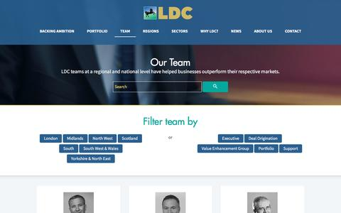 Screenshot of Team Page ldc.co.uk - LDC TEAM | Experts in Private Equity and Backing Business Ambition | LDC - captured May 12, 2017