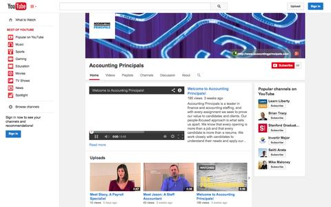 Screenshot of YouTube Page youtube.com - Accounting Principals  - YouTube - captured Oct. 23, 2014