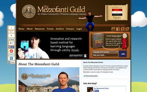 Screenshot of About Page mezzoguild.com - About The Mezzofanti Guild | The Mezzofanti Guild - captured Nov. 1, 2014