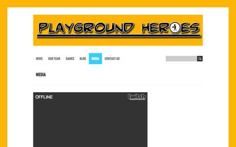 Screenshot of Press Page playgroundheroesstudio.com - Media | Playground Heroes Studio - captured Sept. 30, 2014