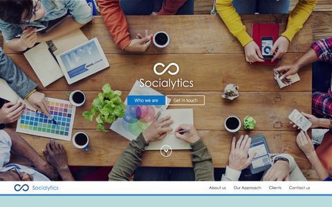 Screenshot of Home Page socialytics.ph - Socialytics, Inc. - captured Feb. 26, 2016