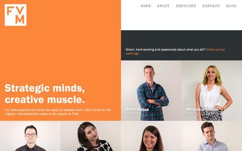 Screenshot of Team Page thinkfvm.com - FVM People – Meet the Team - captured Oct. 10, 2018