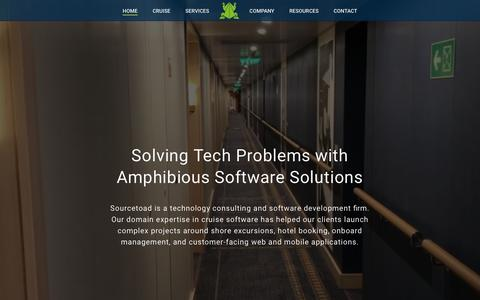 Screenshot of Home Page sourcetoad.com - Sourcetoad | Cruise Technology Consulting and Software Development - captured Oct. 18, 2018