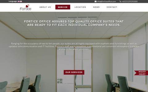 Screenshot of Services Page forticeoffice.com - Service | Fortice Office - captured Feb. 10, 2016