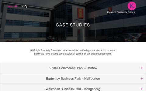 Screenshot of Case Studies Page knightpropertygroup.co.uk - Knight Property Group - captured Jan. 9, 2016