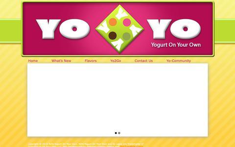 Screenshot of Home Page yogurtonyourown.com - Yogurt On Your Own - Fort Wayne Area Frozen Yogurt - captured Oct. 20, 2018
