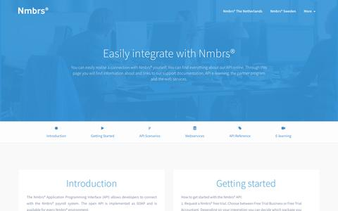 Screenshot of Developers Page nmbrs.com - Nmbrs®   Cloud HR and Payroll software - captured Nov. 30, 2017