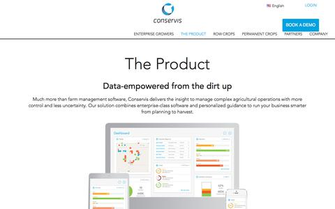 Screenshot of Products Page conserviscorp.com - Farm Management Software | Conservis - captured Feb. 16, 2018