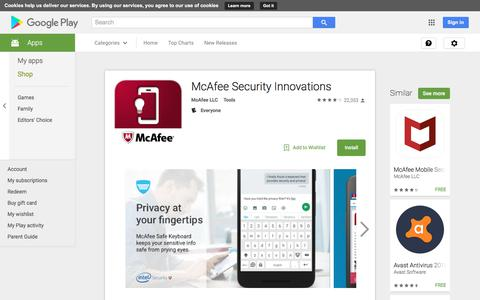 McAfee Security Innovations - Android Apps on Google Play