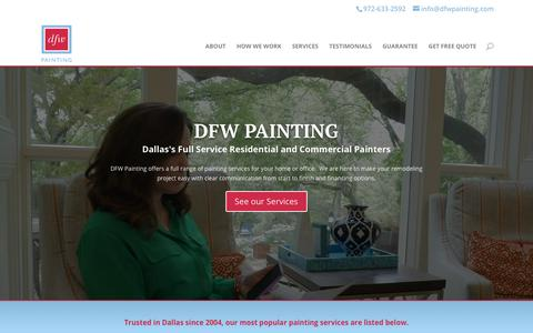 Screenshot of Home Page dfwpainting.com - Dallas Painting | Dallas Fort Worth Painters | Dallas Painters | DFW Painting - captured Feb. 15, 2020