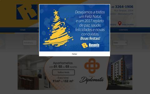Screenshot of Home Page rasenteimoveis.com.br - Rasente Imóveis em Medianeira Paraná - captured Dec. 29, 2016