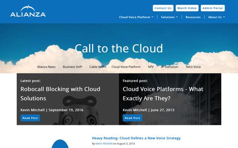 Screenshot of Blog alianza.com - Call to the Cloud - captured Nov. 20, 2016