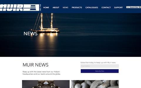 Screenshot of Press Page muir.com.au - Muir Windlasses Australia | NEWS - captured Oct. 23, 2017