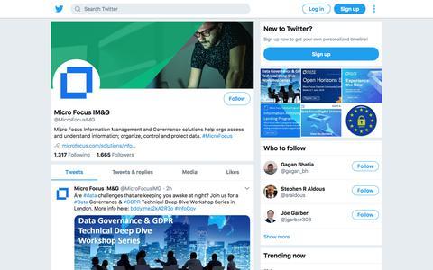 Tweets by Micro Focus IM&G (@MicroFocusIMG) – Twitter