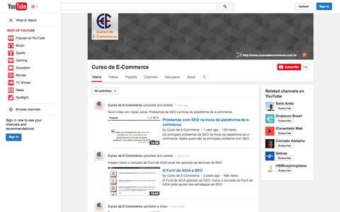 Screenshot of YouTube Page youtube.com - Curso de E-Commerce  - YouTube - captured Oct. 23, 2014