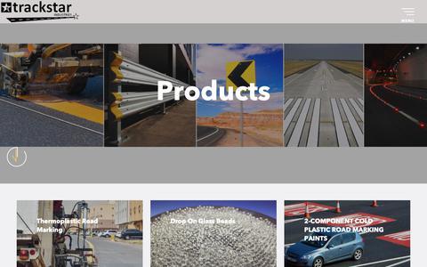 Screenshot of Products Page trackstarindustries.com - Trackstar Industries - captured Dec. 11, 2018