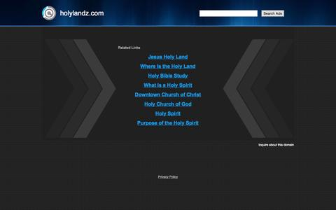Screenshot of Login Page holylandz.com - holylandz.com - captured July 24, 2015
