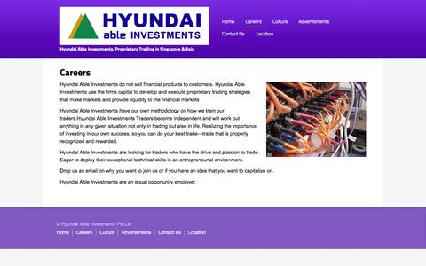 Screenshot of Jobs Page hdableinv.com - Hyundai Able Investments Proprietary Trading Singapore Asia Korea - captured March 4, 2016