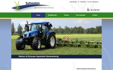 Screenshot of Home Page schoutenadv.nl - Schouten Agrarische dienstverlening    |    Index - captured Oct. 4, 2014