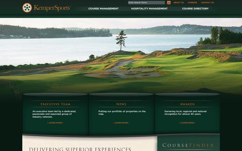 Screenshot of About Page kempersports.com - Golf Course Management | Hospitality Management | KemperSports - captured Sept. 28, 2018