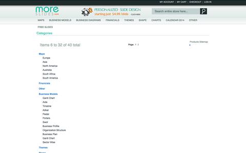 Screenshot of Site Map Page moreslides.com - Site Map - captured Oct. 10, 2014